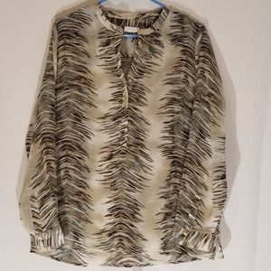 Chico's Sheer Blouse SZ 8